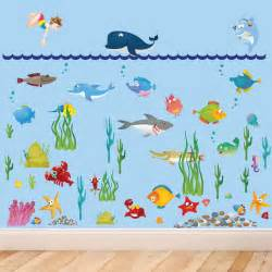 large under water sea world full colour wall stickers for pics photos under the sea wall stickers