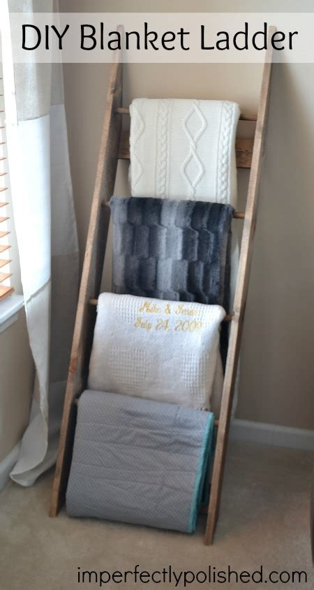 Blanket Rack Ladder diy blanket rack blanket ladder