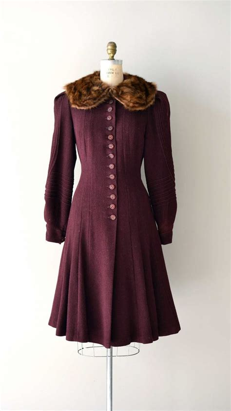 house coats vintage 1930s coat princess coat asquith house wool coat