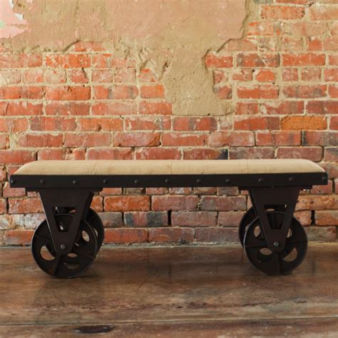 bench with wheels elegant portable fabric bench with rolling wheels
