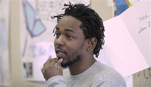 kendric lamar s hair style kendrick lamar visits mr mooney s class a high school