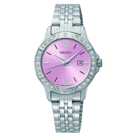 buy seiko pink stainless steel bracelet