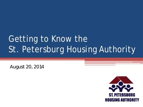 saint petersburg housing authority getting to know the st petersburg housing authority