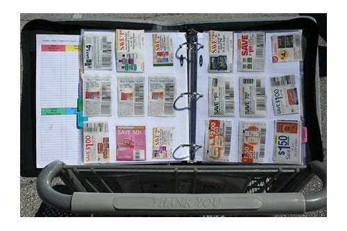 coupon binder organization for sale