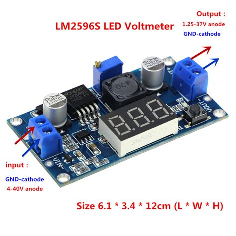 Module Dc Dc Step Buck Converter 2a Lm2596 Dengan Led Display module dc dc step buck converter 2a lm2596 dengan led display jakartanotebook