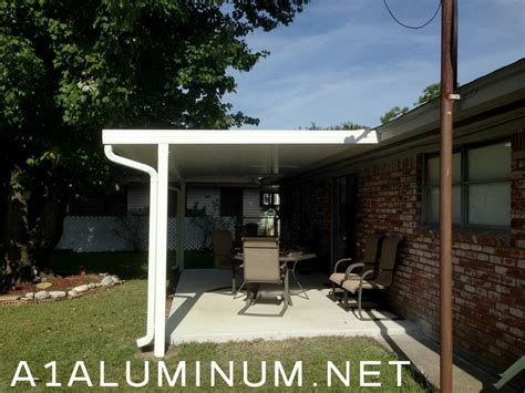 Aluminum Covered Patios by Aluminum Flat Pan Patio Cover In Baytown To Meet Windstorm
