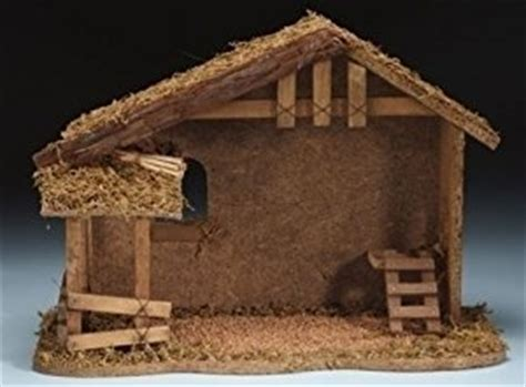amazon com nativity 10 1 2 quot wooden stable fontanini