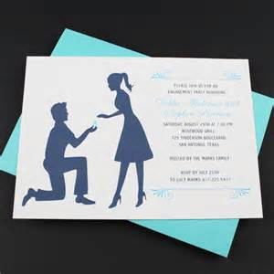 Engagement Invitation Templates by Engagement Invitation Template Silhouette