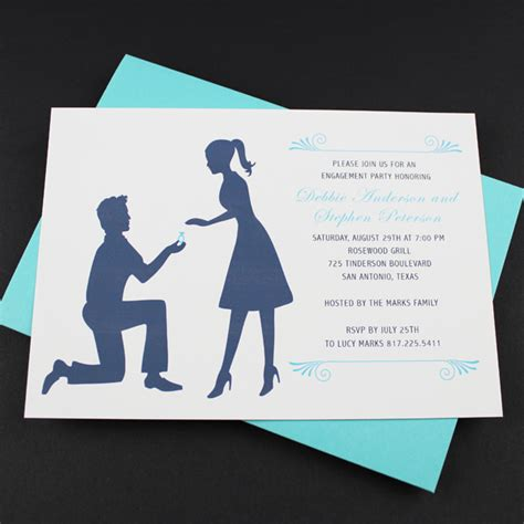 engagement invite templates engagement invitation template silhouette