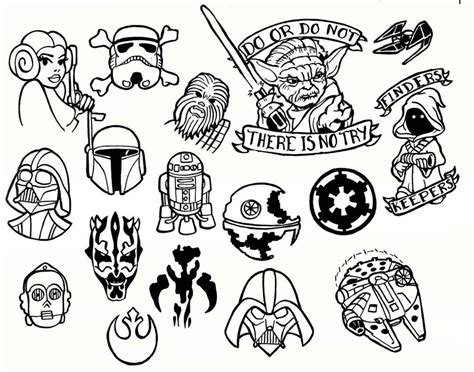 simple star wars tattoos black outline wars flash by jason sorrell
