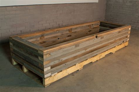 How To Make A Raised Planter by Reclaimed Raised Garden Bed Planter 5 Custom By Rushton Llc