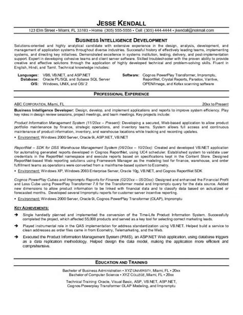 Business Objects Resume by Business Objects Developer Resume Resume Ideas