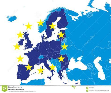 European Union Members by Eu Bauteile Auf Europa Karte Lizenzfreies Stockfoto Bild