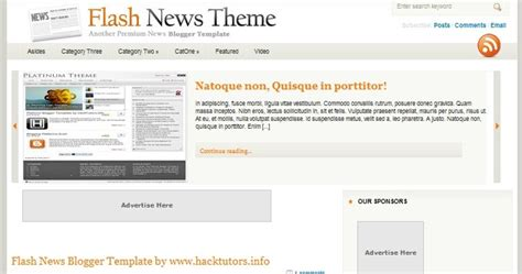 releasing flash news blogger template hack tutors
