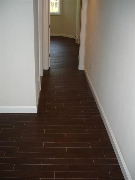 Wood Floor Layout by Wood Tile Floor Set On Thirds To Mimmic A Wood Floor Layout New Jersey Custom Tile