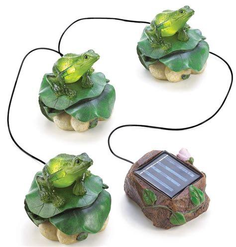 frog solar lights solar frog trio light solar garden decor