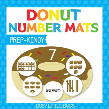 Donuts Number donut number mats numbers 1 10 by busy bugs tpt
