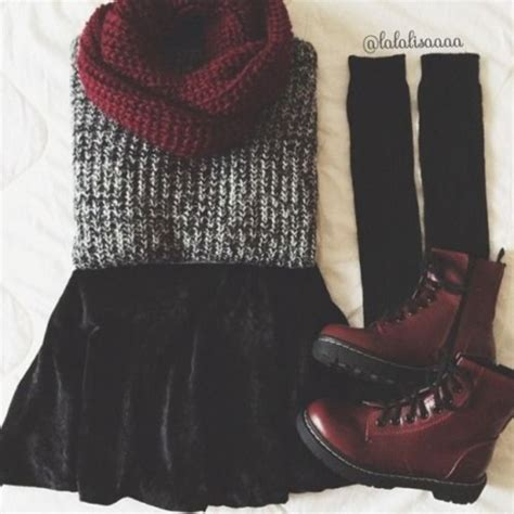 Sweater Skirt Boots Boots Black Leg Warmers
