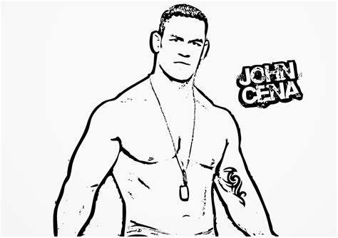 free coloring pages of raw john cena
