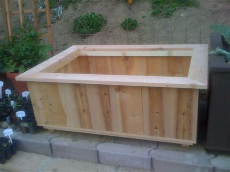 wood work wood planter box blueprints easy diy