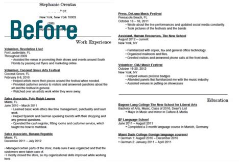 17 Ways To Make Your Resume Fit On One Page Findspark