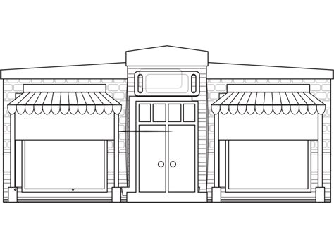 coloring book warehouse 187 store fronts shop 17 black white line coloring book