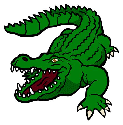 crocodile clipart clipart crocodile coloured