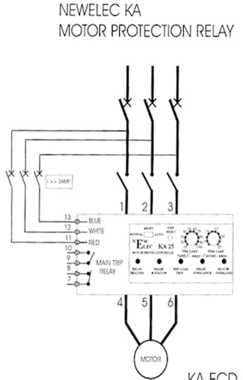 motor wiring diagram furthermore thermal relay