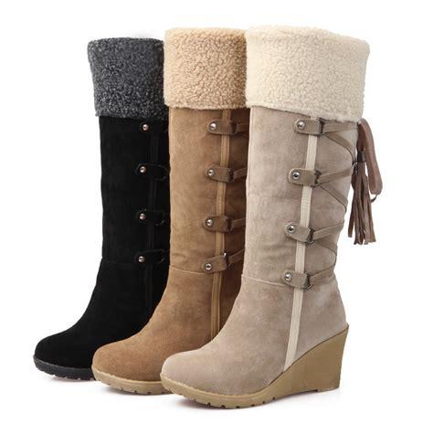 Sale Boots Bkl01 Black 2017 sale botas femininas winter boots 7cm high heels knee high boots shoes black