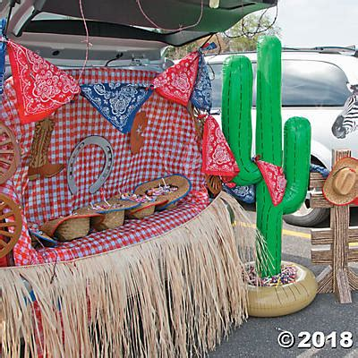decent traders decorating items western trunk or treat car decorations idea