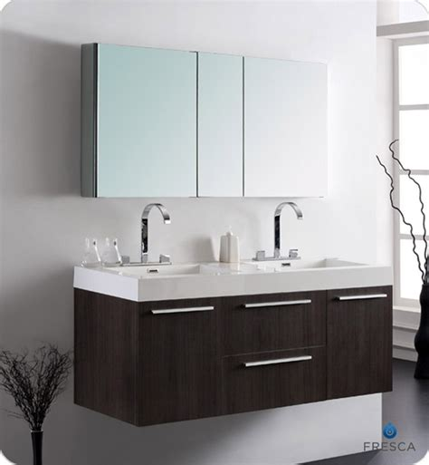 modern double sink bathroom vanities 54 fresca opulento fvn8013go gray oak modern double