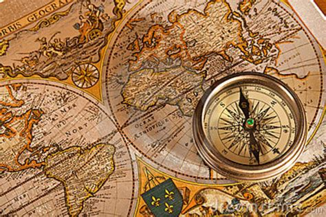 old map and compass concepts stock image image 11442323
