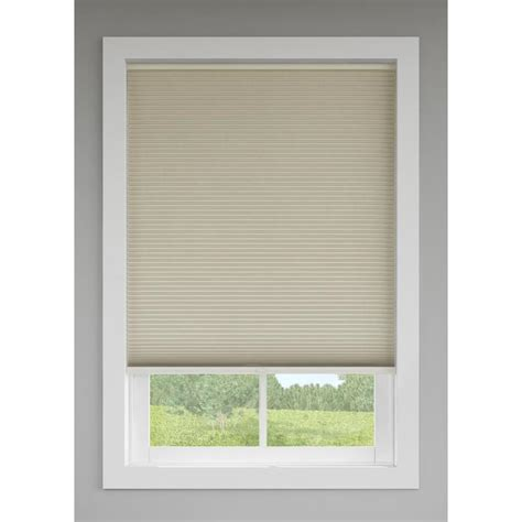 Cordless Window Blinds by Shop Levolor Sand Room Darkening Cordless Polycotton