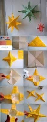How To Make Paper Kandil - diagramme d origami d 233 toile 224 cinq branches creative
