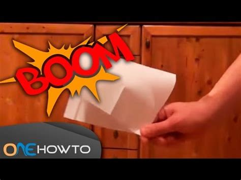 How To Make The Loudest Paper Popper In The World - paper popper how to make a loud paper snap easy