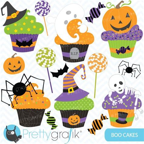 Tweeny Lunch Set boo cakes cupcake and clipart for