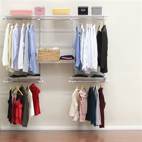 Shop Your Own Wardrobe by Clever Closet 2 4m White Wardrobe System Bunnings Warehouse