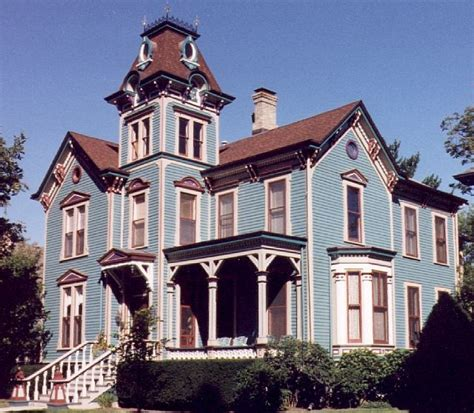 white victorian second empire house gothic norwich strong blue with red and white victorian house colors