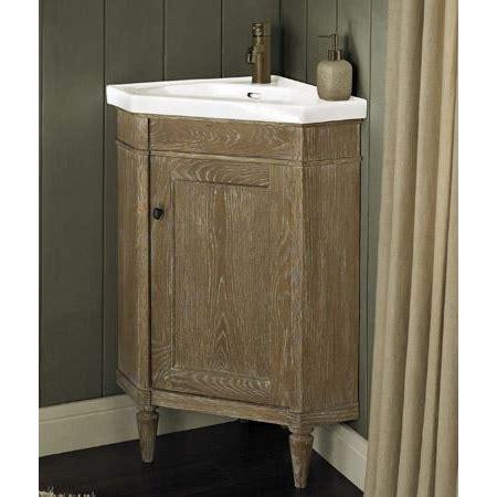 Fairmont designs rustic chic 26 quot corner vanity amp sink set weathered oak free shipping