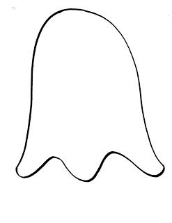 ghost template 11 best images of printable ghost cut out pattern