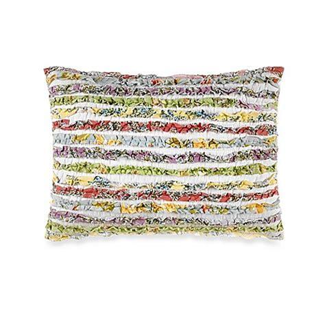 laura ashley bed pillows laura ashley 174 ruffle garden oblong throw pillow bed bath