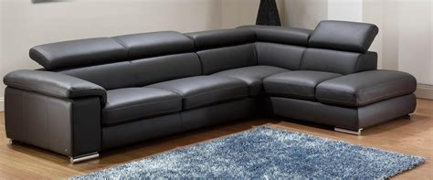 21 collection of black leather sectional sleeper sofas