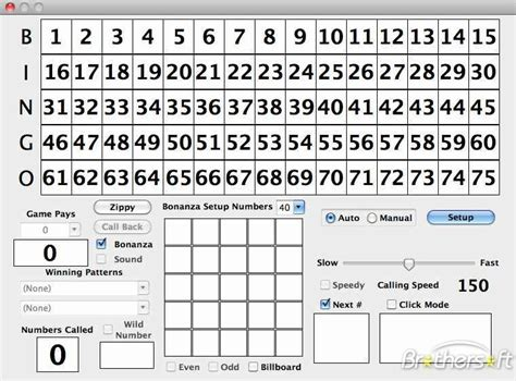 bingo caller card template printable bingo calling cards images