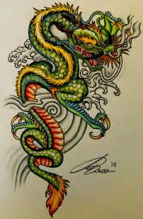 colored dragon tattoo designs i all of the bright colors