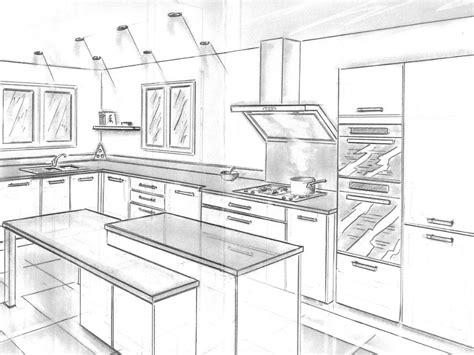 dessiner une cuisine en perspective cuisine placard dressing rangements nazaire