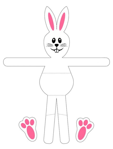 easter bunny egg holder pattern free kids crafts