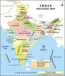 India Map States by Indien Politische Karte