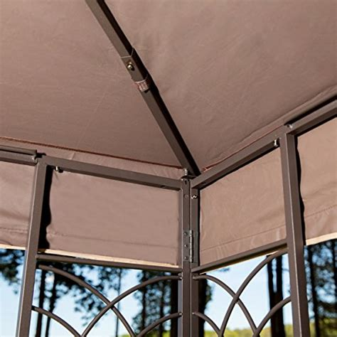 gazebo fan with hook 10 x 12 regency ii patio gazebo with mosquito netting