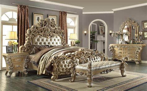 5 Piece Homey Design Royal Kingdom HD 7012 Bedroom Set