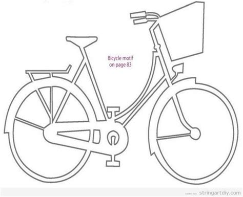 Best 25 Bicycle String Art Ideas On Pinterest String String Nail Templates